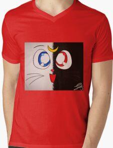Luna and Artemis Mens V-Neck T-Shirt