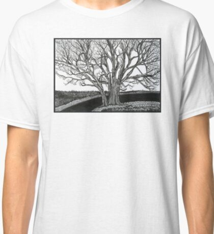 Solitary, Ink Tree Drawing Classic T-Shirt