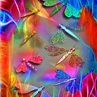 Dragonfly Abstract Fantasy by Delights