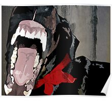 Doberman Teeth Poster