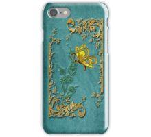 Golden Butterfly Frame iPhone Case/Skin