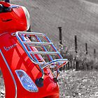 The Red Vespa by Adrian Alford Photography