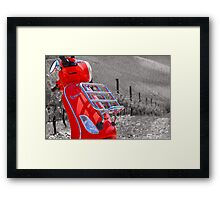 The Red Vespa Framed Print