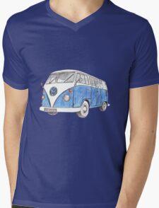 VW Van Split Screen 1966 Mens V-Neck T-Shirt