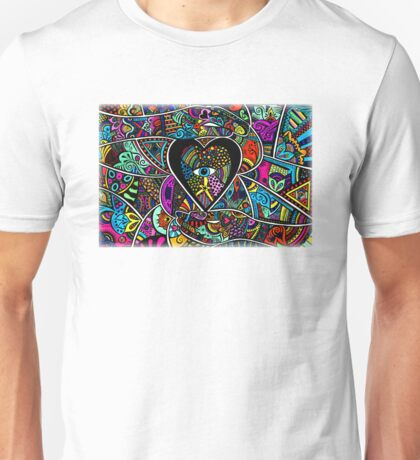 what the heart sees the hands hold coloured Unisex T-Shirt