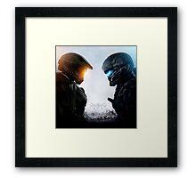 Spartan vs. Spartan Framed Print