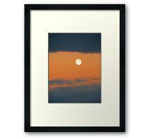 grey moon Framed Print
