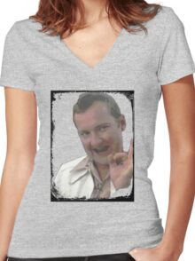 Cousin Eddie Johnson Women's Fitted V-Neck T-Shirt