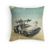 lost searching for the DeathStarr_ 2 stormtroooper in A DELOREAN Throw Pillow