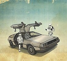 lost searching for the DeathStarr_ 2 stormtroooper in A DELOREAN by Vin  Zzep