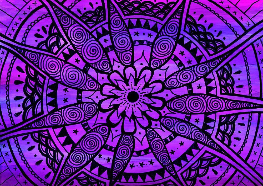 Purple Paisley Daisy by Wealie