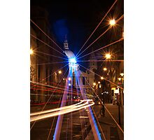 Light rays on a St. Paul's night Photographic Print