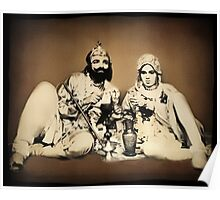 ๑۩۞۩๑1900's Rare Old  Rare Indian Royal Mughal King With His Queen (My Restoration completed) ๑۩۞۩๑ Poster