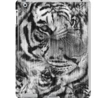 Black and White Layered Tiger Vintage iPad Case/Skin