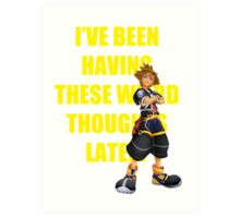 "Sora ""I've Been Having These Wierd Thoughts Latley"" Art Print"