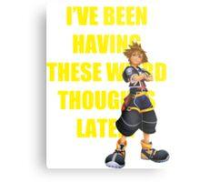 "Sora ""I've Been Having These Wierd Thoughts Latley"" Metal Print"