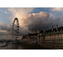 Sky Drama Around the London Eye Photographic Print