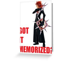 "Axel ""Got It Memorized"" Greeting Card"