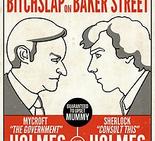 Bitchslap on Baker Street (print or poster) by redscharlach