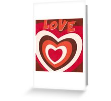 Retro Love Hearts Pop Art Greeting Card