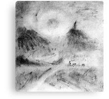 Monotype print Canvas Print