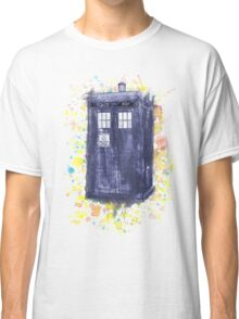 Blue Box in Wibbly Wobbly Watercolour Classic T-Shirt