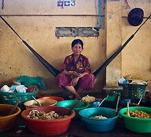 Meat Market, Cambodia by Belle  Nachmann