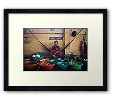 Meat Market, Cambodia Framed Print
