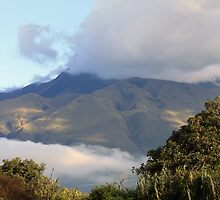 Cloud Covered Mount Imbabura by rhamm