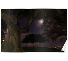 Observatory Hill by moonlight Poster