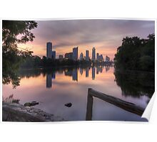 Austin Images - the Austin Skyline from Lou Neff Point 3 Poster