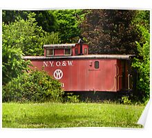 New York OW Caboose Poster