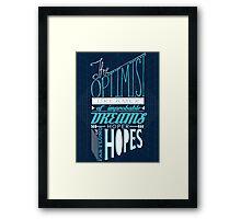 The Optimist Framed Print