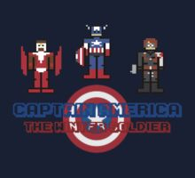 Pixelated Captain America- the Winter Soldier by inesbot