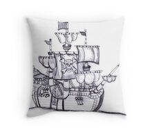Be a Pirate Throw Pillow