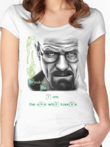 Walter White W/ quote  Women's Fitted Scoop T-Shirt