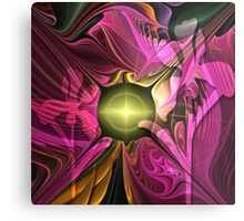 Artistic fractal abstract Summer fantasy wit Flowers Metal Print