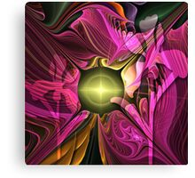 Artistic fractal abstract Summer fantasy wit Flowers Canvas Print