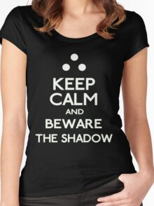 Keep Calm and Beware the Shadow Splinter Cell Women's Fitted Scoop T-Shirt