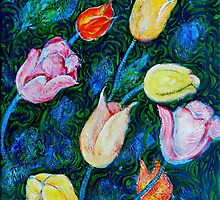 Tulips a bit in Van Gogh style by ivDAnu