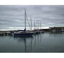 Yachts In Harbour Photographic Print