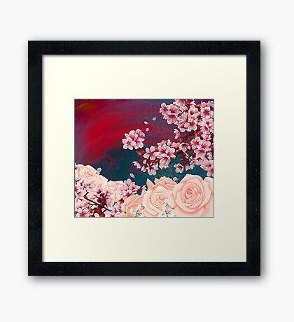 Full Bloom | Cherry pink Warhol Framed Print
