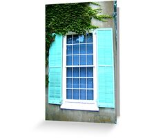 Window With Shutters and Ivy Greeting Card