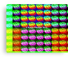 Rainbow Pixel Eye Eyes Design Canvas Print