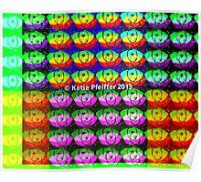 Rainbow Pixel Eye Eyes Design Poster
