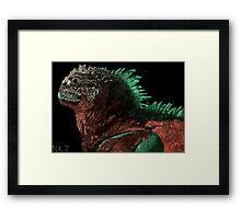 Marine Iguana (Colorized) Framed Print