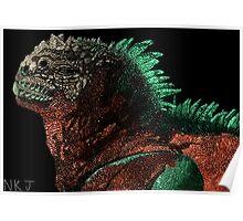 Marine Iguana (Colorized) Poster