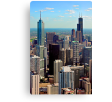 THE ASTONISHING CHICAGO BUILDING ARCHITECTURE Canvas Print