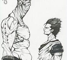 Majin Buu vs Gohan by delonte089