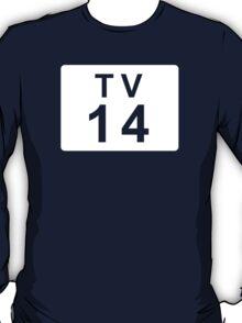 TV 14 (United States) white T-Shirt